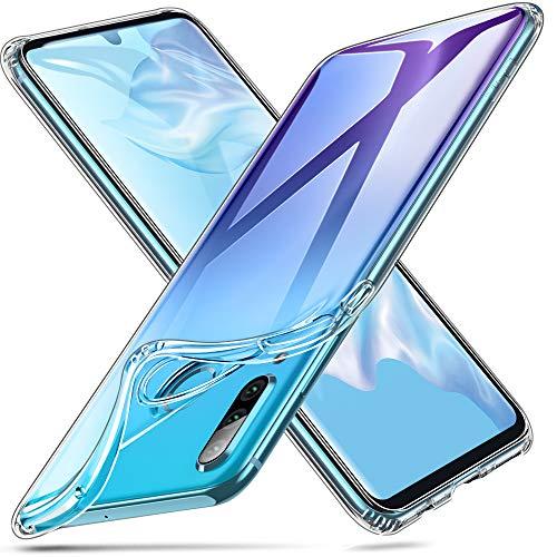 ESR Silikon Hülle Kompatibel mit Huawei P30 Lite Dünne Weiche Transparent TPU Schutzhülle Slim Hülle Klar
