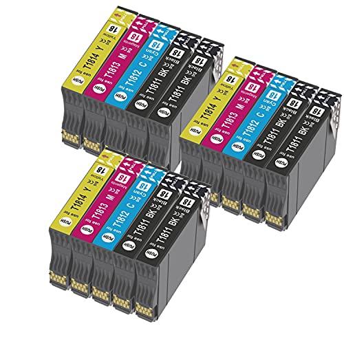 Teland - Cartuchos de tinta compatibles con Epson 18XL para Expression Home XP-322 XP-215 XP-205 XP-225 XP-305 XP-325 XP-422 XP-405 XP-415 XP-425 (6 negros, 3 cian, 3 magenta y 3 amarillo)