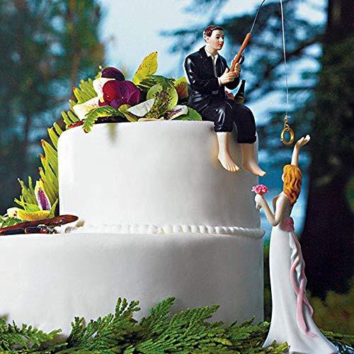 feeilty Decoración para Tarta de Boda, decoración para Tarta de Boda de Resina 22