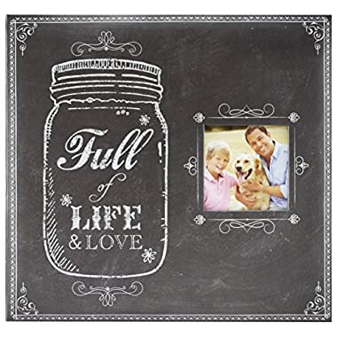 MCS MBI 12.5x13.5 Inch Full of Life and Love Mason Jar Scrapbook Album with 12x12 Inch Pages with Photo Opening (860083)