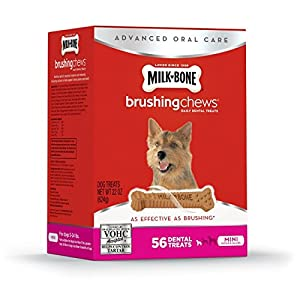 Milk-Bone Brushing Chews Daily Dental Dog Treats, Mini, 56 Count