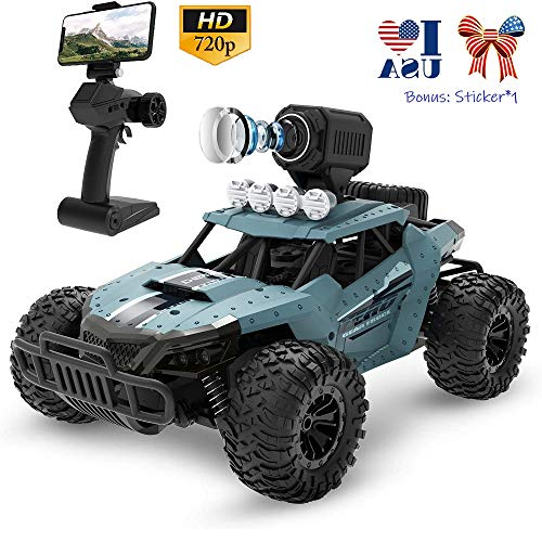 RC Truck with 720p HD Camera Remote Control Cars 1/16 Scale