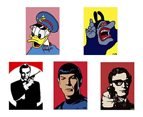 5Stück TV und Film Legends & Symbole Grußkarten von Matt Smith