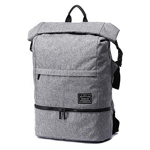 Neuleben Wasserdicht Kurierrucksack mit Diebstahlschutz Laptopfach für 15,6´´ Rucksack Daypack für Sport Schule Fahrrad (Grau)