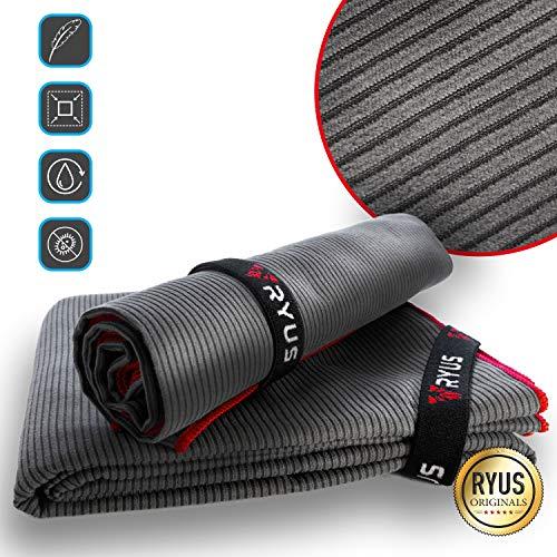 RYUS® UltraDry - Mikrofaser-Handtuch [mit Struktur] Sporthandtuch, schnelltrocknend und antibakteriell für Sport, Fitness, Yoga, Reisen, Outdoor (S)