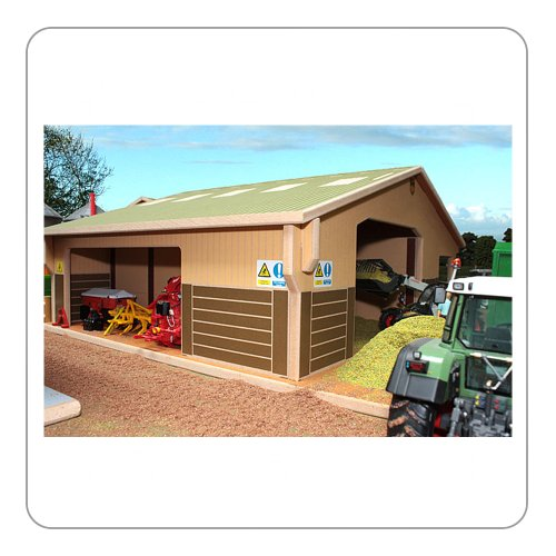 BRUSHWOOD TOY FARM BT4000 3 BAY MULTI PURPOSE SHED