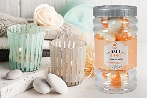 Nature's Beauty Dreamsicle BATH BOMB Gift Set (Orange Blossom, Lemon Zest & Honey Nectar: contains 10 pack - 1.75oz ea Bath Bombs), Spa Bomb Fizzies, Non-staining, Natural Ingredients, Hand Crafted