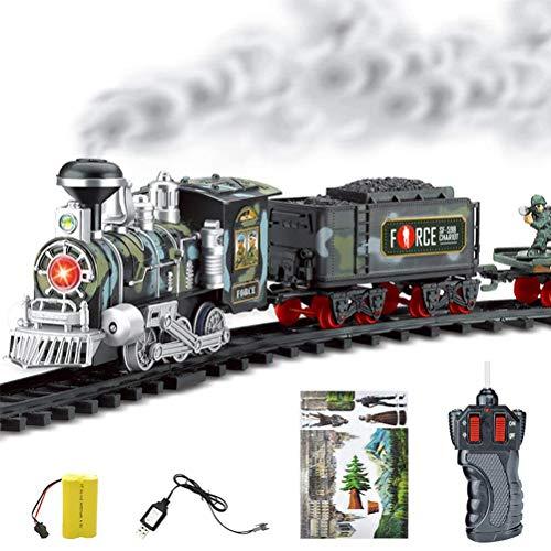 Zhongdawei Tren de Navidad, juguete eléctrico de tren de ferrocarril con música y luz frontal para debajo del árbol de Navidad, regalos de Navidad para niños