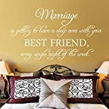 Decal-Sticker 83x145cm Marriage is Getting to Have A Sleep Over with Your Best