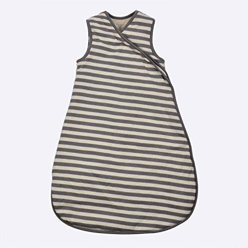 G.O.T.S. Organic Cotton Unisex Baby Sleeping Bag, All Natural Dye-Free (3-6M, Gray Stripe)