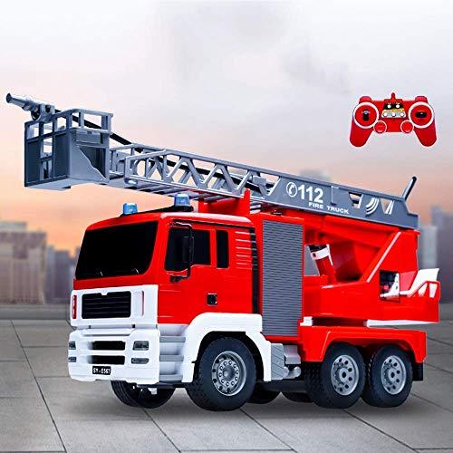 FYRMMD RC Control Remoto Agua pulverizada Camión de Bomberos Camión de Bomberos acuático Entretenimiento en el hogar para niños Coche de Juguete Eléctrico So (Coche de Control Remoto)