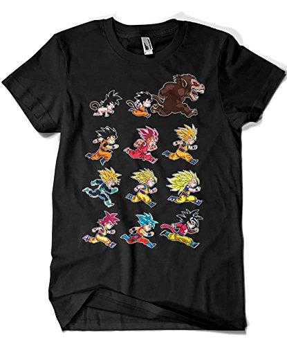 4003-Camiseta Premium, Dragon Ball-Evolutions of Goku(albertocubatas) XXL