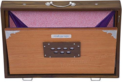 Shruti Box, Maharaja Musicals, shruthi Box, groß 40,6x 30,5x 7,6cm, Sur Peti Surpeti sortiert, mit Tasche, natürliche Farbe, Musikinstrument indischen (pdi-efe)