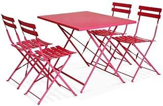 Amazon.fr : table pliante - Rouge / Salons de jardin / Mobilier de ...