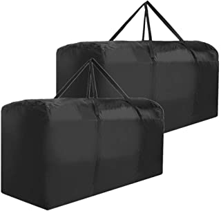Patio Cushion Storage Bag Waterproof Extra Large Protective Zippered Outdoor Cushion Storage Bags Furniture Storage Bag wi...
