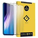 CENTAURUS for Redmi Note 8 Screen Protector-(3 Pack) Ultra-Thin Anti-Scratch Anti-Fingerprint Case Friendly Clear Tempered Glass Protective Film Compatible with Xiaomi Redmi Note 8 M1908C3JE 6.3'