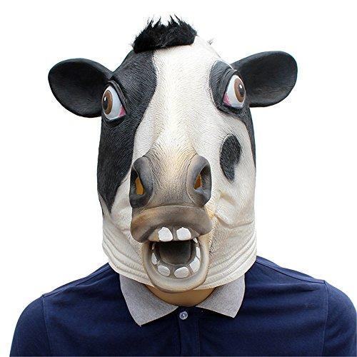 YBBGHH Dierenmasker koeien, grappig dierenmasker, Halloween-kostuum, latex, dierenhoofd-masker