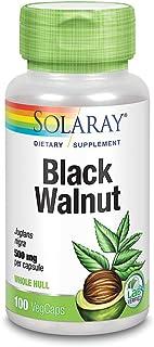 Solaray Black Walnut 500 mg | Whole Hull | Healthy Digestive & Intestinal Wellness Support | Non-GMO, Vegan & Lab Verified...