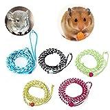 YingNeng Adjustable Ferret Hamster Harness Leash Pet Mouse Baby Rabbit Squirrel Walking Rope