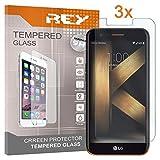 REY Pack 3X Panzerglas Schutzfolie für LG K20, Bildschirmschutzfolie 9H+ Festigkeit, Anti-Kratzen, Anti-Öl, Anti-Bläschen