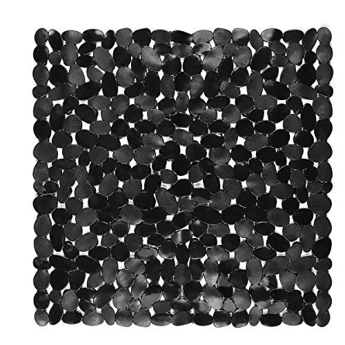 Yardwe Tapis antidérapant pour Salle de Bains Tapis de sécurité pour Salle de Bains en Galets pavés Tapis de sécurité en PVC Tapis antidérapants Anti-moisissures en PVC (Noir)