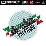 erreinge Sticker Palermo Italia Souvenir Adesivo Sagomato in PVC per Decalcomania Parete Murale Auto Moto Casco Camper Laptop - cm 35