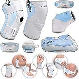C.P. Sports - Ginocchiera L – Deluxe bendaggio traspirante e antibatterico – Mano, piede, braccia, gomito, ginocchia, dolori articolari, gomito, gomito, gomito – per sport e fitness