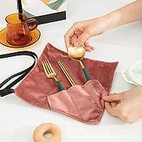 箸袋 カトラリー収納袋 ペグケース 布巻き 食器入れバッグ 3ポケット アウトドア クッキング ツール ボックス 折りたためる調理器具バッグ 化粧品 収納袋 ペンホルダー