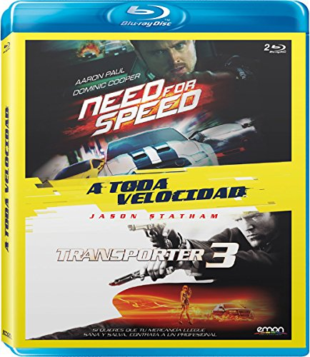 Pack A Toda Velocidad: Need For Speed + Transporter 3 [Blu-ray]
