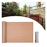 FJJSW Pantalla de privacidad, Divisor de Panel de proyección de Sombra de Apartamentos, Cubierta de Parabrisas de Cerca 100% Opaco, para Jardines terrazas de balcón Viento/soleados solares