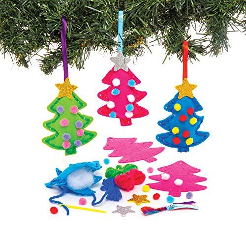 Kit da Cucito Alberi di Natale Baker Ross (confezione da 3) Attività Creative Festive