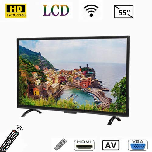 Tosuny Televisor Curvo de Pantalla Ancha de 55 Pulgadas UHD HDMI Smart TV 1920x1200 con HDR/USB/HDMI/AV, Compatible con Salida de Video 4K y Control de Voz AI, 3000R Curvature,Noise Reduction(UE)