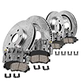 Callahan CCK07226 [4] FRONT + REAR OEM Brake Calipers + [4] D/S Rotors + Ceramic Pads + Clips [fit Ford F-350 4WD DRW]