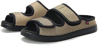 B/H Orthopédique Pantoufles,Chaussures en Tissu réglables en Largeur et gonflement du Pied, Chaussures pour Pied diabétiqu...