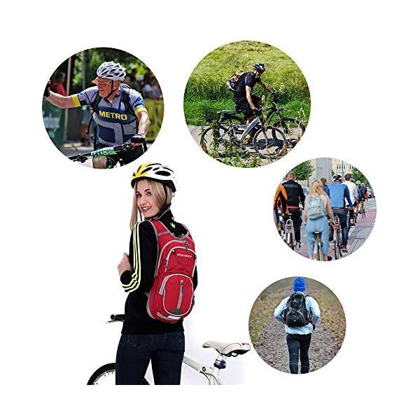 51df5MEgYUL. SS600  - EULANT Mochila para Bicicleta, 12L Mochila de Hidratación de Ciclo Impermeable