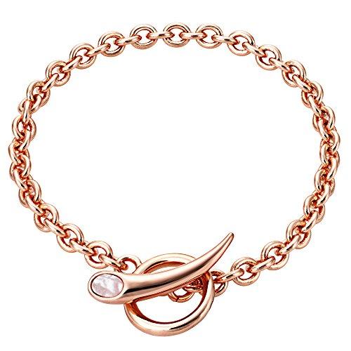 Buckley London Damen Armschmuck Messing rosévergoldet mit Perlmutt Messing Glänzend Perlmutt rosa 430060073