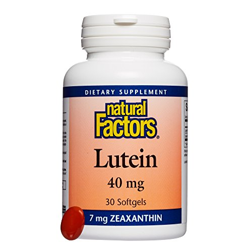 Natural Factors, Lutein 40 mg, 30 Softgels, Antioxidant Support for Healthy Eyes and Skin with Zeaxanthin, 30 Servings