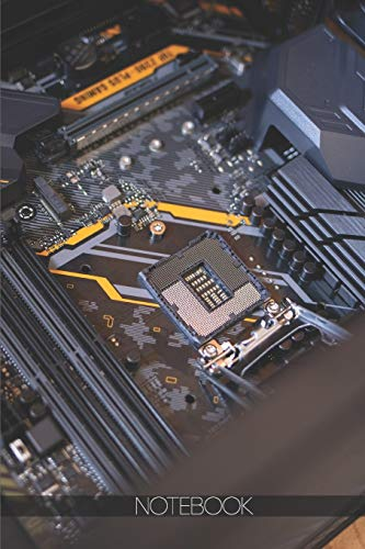 Notebook: Black and gray motherboard [110 pages]: Black and gray motherboard