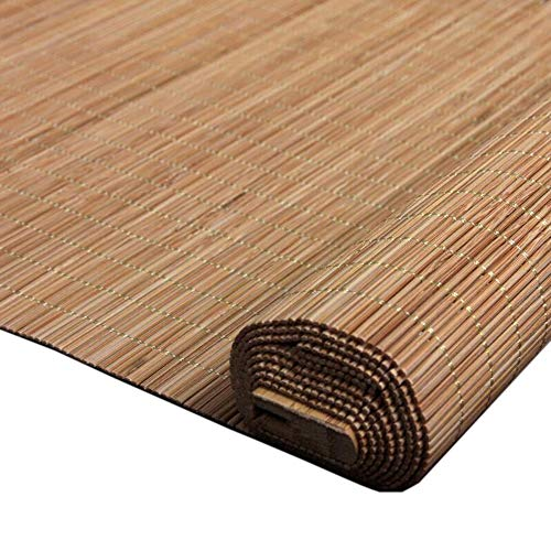 Jcnfa-rolgordijn bamboe rolgordijnen schaduw verduistering bamboe jaloezieën voor binnenshuis patio deur Balkon, haak op/schaduw tarief 50%, aanpasbaar