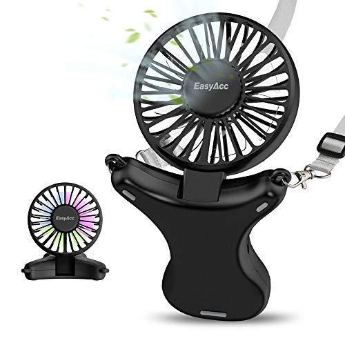 Travel Fan EasyAcc 2020 Handheld Fan 3350mAh Rechargeable Battery Fan...