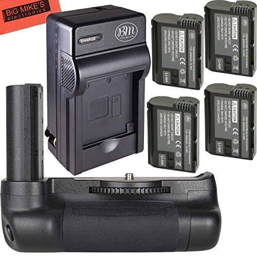 Ultra High Power Battery Grip Kit for Nikon D7500 Digital SLR Camera - Includes Qty 4 BM Premium EN-EL15 Batteries + Rapid AC/Dc Battery Charger + Vertical Battery Grip