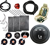 WATERCARBON 12v Car Seat Cooling Kits System Round 3-Speed Button Switch Automotive Ventilated seat Covers Cushion Ultra Comfortable 5 Fans 1 seat-Blow Wind Style