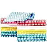 KMAKII カウンタークロス 不織布ふきん 雑巾 キッチンクロス 台拭き、吸水性が良い 乾燥が速いので 繰り返し使える雑巾 イエロー 約33cmx60cm (60 マルチカラー)