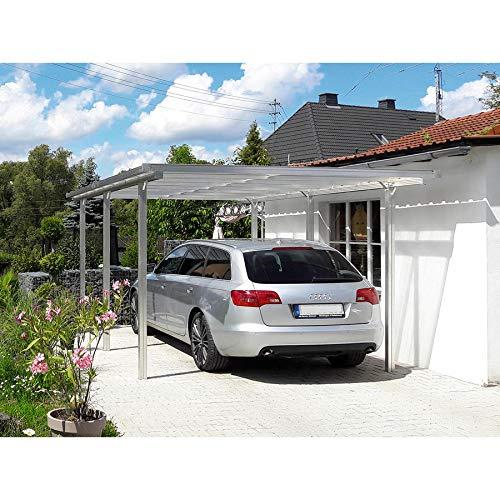 *Beckmann Aluminium Carport 311 x 496 x 218 cm Aluminium Natur*