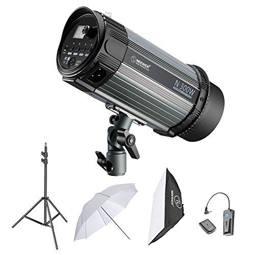 Neewer 300W Studioblitzröhrenblitz Fotografie Beleuchtungs-Installationssatz Monolicht Lichtständer Softbox RT-16 Funkauslöser Set Studioschirm für...