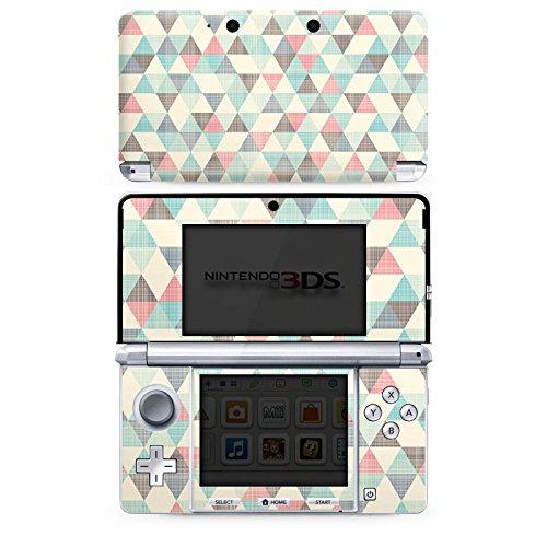 Skin kompatibel mit Nintendo 3 DS Folie Sticker Dreiecke Vintage Muster