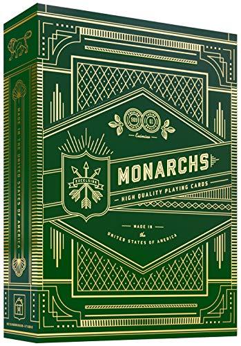 SOLOMAGIA Mazzo di Carte Monarchs (Green) by Theory11 - Mazzi di Carte da Gioco - con Omaggio Esclusivo Firmato