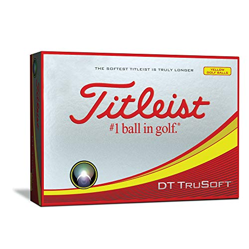 Titleist DT TruSoft Golf Balls, Yellow (One Dozen)