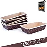 Bakeware Paper Loft Pan Disposable Siliconized Baking Loft Mold for Baking 25ct, All Natural FDA...