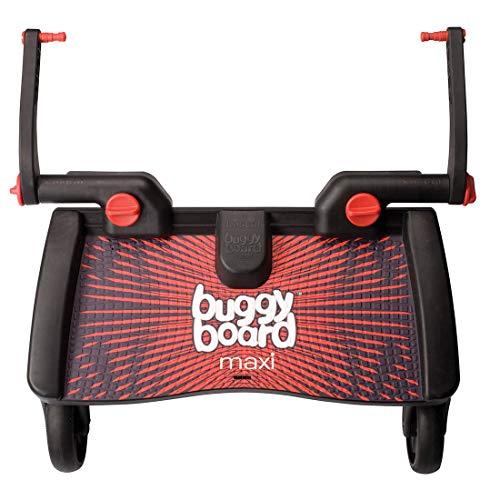 Lascal 2750 BuggyBoard MAXI planche à roulettes large Noir / Rouge